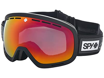 Spy Optic Marshall Asian Fit (Essential Black Happy Gray Green w/ Red Spectra+Happy Yellow) Snow Goggles