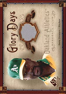 2005 Upper Deck SP Legendary Cuts Glory Days Material #ST Dave Stewart Oakland Athletics MLB Baseball Card (Memorabilia/Game Used) NM-MT
