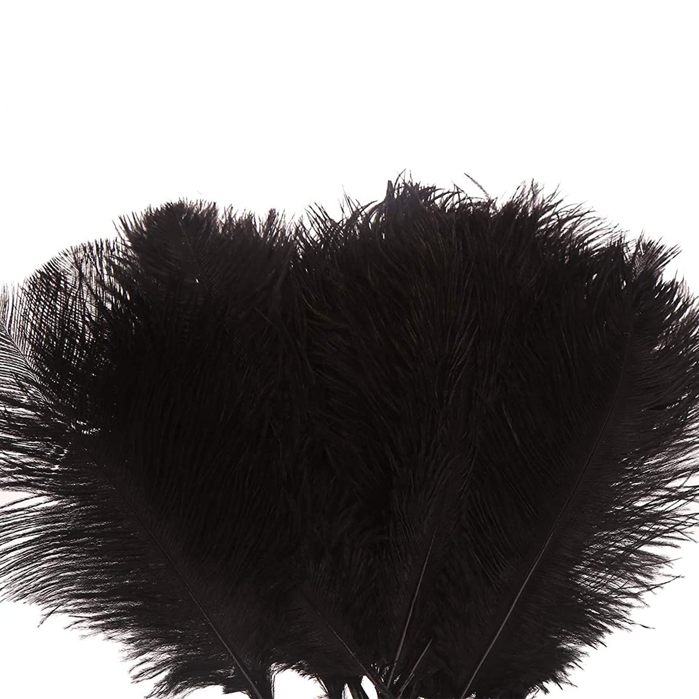 Natural White 10-12inch Ostrich Feather for DIY Craft Masquerade Party Table Centerpieces Pack of 10