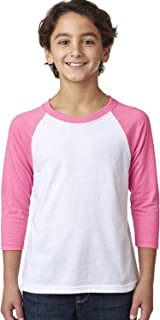 Next Level youth CVC 3/4-Sleeve Raglan Tee (3352)