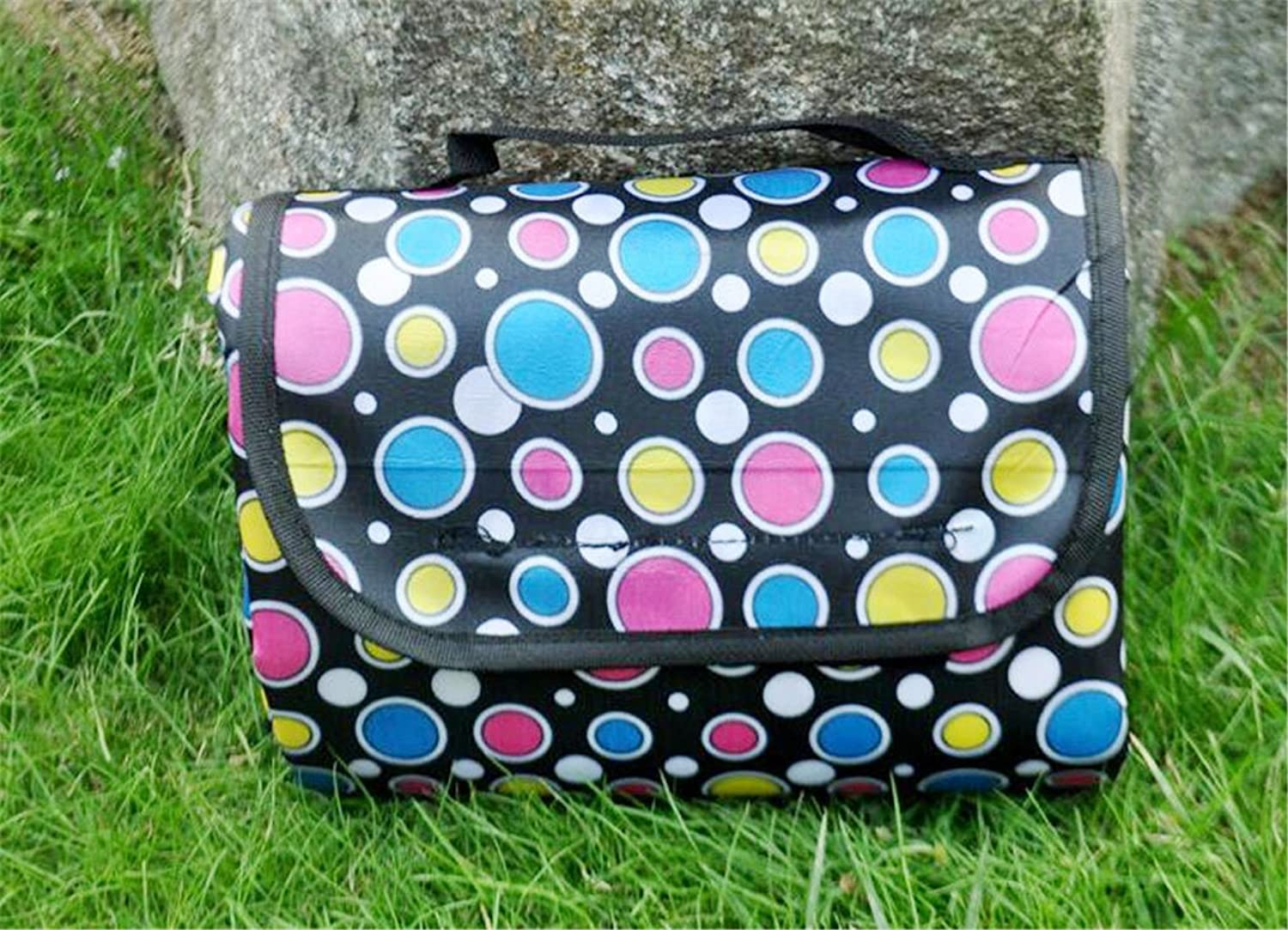 Large Outdoor Picnic Blanket,200 X 150 cm WaterResistant Sandproof Handy Mat Tote Great for The Beach,Black