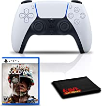 $144 » PlayStation 5 DualSense Wireless Controller Bundle with Call of Duty: Black Ops Cold War PS5 Game and Cleaning Cloth