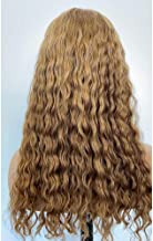 JNM Hair Brazilian Jerry Curly Ombre Blonde Color Human Hair Lace Wigs 13×6 Lace Front Wig 150% Density with Baby Hair Glueless Human Hair Wigs 14Inch