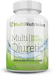 Multi Diuretic con vitamina B6 - Quemagrasas - Diurético - Antioxindante - Salud del sistema urinario |100% natural y vegetal| (180)