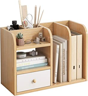 Shelves, Multi-layer Storage Racks With Drawers, Desktop Office And Home Shelves, Student Small Bookcases, For Study Bedro...