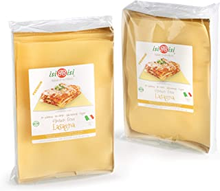 isiBisi Lasagna Gluten Free Pasta - Rice and Corn Flour - Made in Italy (18 oz - 2 Pack)
