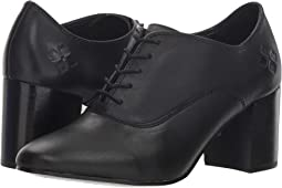 Dr martens corinna lace to toe shoe black polished virginia