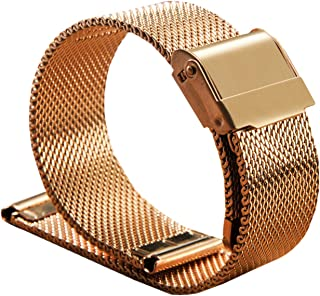 Elonglin Stainless Steel Bracelet Watchbands Watch Straps for Men Women Mesh Solid Links 4 Colors(12/13/14/16/17/18/19/20/...