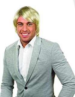 Mens Boy Band Wigs Adults Musical Group Short Floppy Hair - Choice of Colours