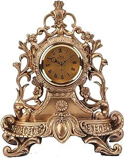 XinQing-Desk clock النمط الأوروبي ساعة كتم ساعة كتم ساعة الإبداعية ساعة أزياء ساعة رئيس ساعة الراتنج ساعة الرجعية ساعة الأ...