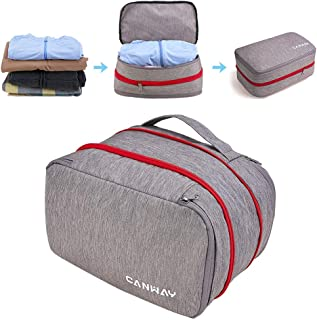Packing Cubes for Travel Compression Packing Cube Travel Packing Organizer Packing Cubes with Double Zippers for Travel