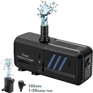 Fish Tank Filter, Water Pump (6W-500L/H) Super Quiet, Home/Office Aquarium Air Bubble Water Circulation System, Oxygen Charging, WaveMaker, Filtering