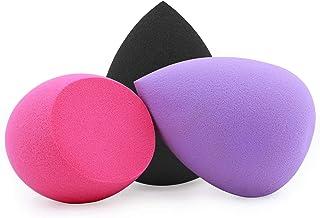Makeup Sponge, Foonbe Blender Beauty Foundation Blending Sponge, Dry & Wet Use for Powder Cream or Liquid Application (3 Pcs, Multi-colored)