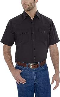 ELY CATTLEMAN Men's Short Sleeve Solid Western Shirt