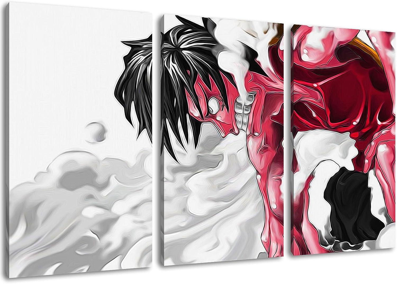 One Piece, Ruffy Ruffy Ruffy Motiv, 3-teilig auf Leinwand (Gesamtformat  120x80 cm), Hochwertiger Kunstdruck als Wandbild. Billiger als ein Ölbild  ACHTUNG KEIN Poster oder Plakat  B00GAB6L06 c90a41