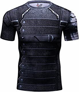 Cody Lundin® Hombres Compresión Deporte Camisa Winter Warrior Rutina de Ejercicio Capas Base Manga Corta Camiseta