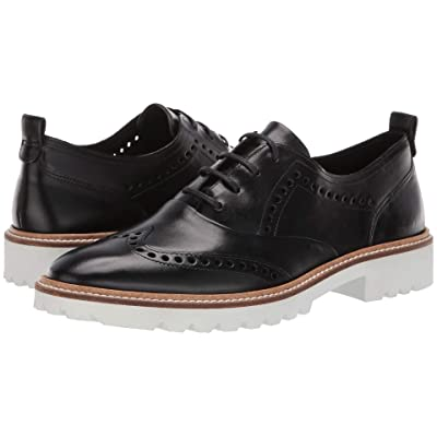 ECCO Incise Tailored Wing Tip (Black Calf Leather) Women