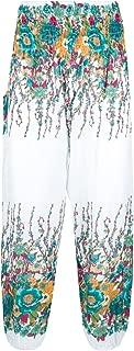 Harem Pants for Women Hippie Yoga Floral Rayon Boho Lounge Pants Plus