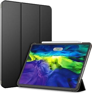 JEDirect iPad Pro 11 ケース (2020モデル、第2世代) 三つ折スタンド オートウェイクアップ/スリープ機能 (ブラック)