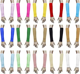 Lot (18 Pairs) Islamic Sleeves Gloves Arms Stretch Stretchy Covers Muslim Hijab Islam Arm Cover Extensions Modest Hejab Abaya Glove Women Sleeve Elastic Winter Warm Warmer Outdoor Sun Block Ladies