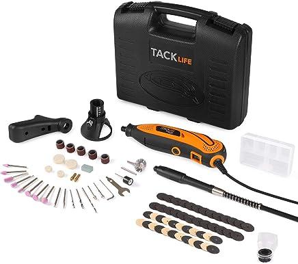 Tacklife RTD35ACL Strumento Multifunzione,Utensile Rotante con 83 Accessori, Mini Drill con Velocita' Variabile per Incidere, Tagliare, Trapanare ecc