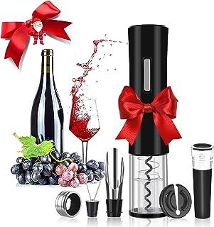Rovtop Elektrische kurkentrekker automatische wijnflesopener van roestvrij staal met foliesnijder, wijnstopper, wijnschenk...