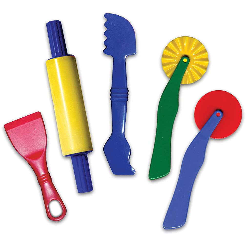 Chenille Kraft 9762 Clay Dough Tools Set 5 Piece Assorted Colors