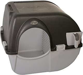 Omega Paw Self-Cleaning Litter Box, Large, Grey/Brown