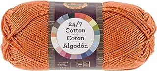 Lion Brand Yarn 761-133 24-7 Cotton Yarn, Tangerine
