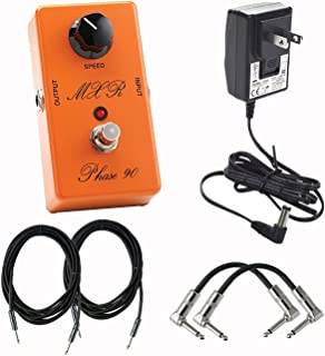 Dunlop MXR CSP101SL Script Phase 90 LED Effects Pedal With Pair of Patch Cables, Power Supply, and Instrument Cable