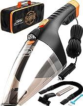 Portable Car Vacuum Cleaner: High Power Handheld Vacuum w/LED Light -110W 12v Best Car..