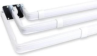 Lockseam Triple Curtain Rod 84-120 inch