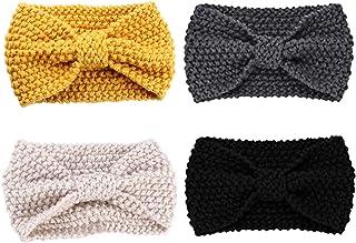 CN Women Girl's Knit Wool Headbands Hair Wraps Ear Warmer Winter Hairband