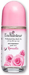 Enchanteur Romantic Roll-On Deodorant for Women, 50ml with Roses & Jasmine Extracts