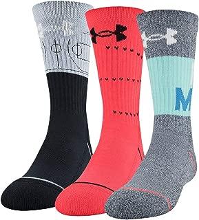 Youth Phenom Crew Socks, 3-Pair