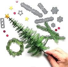 JPJ(TM) New ❤Cutting Dies❤1Pcs Home Hot Fashion Metal Christmas Tree Wreath Cutting Dies Stencil Scrapbook DIY Paper Craft Gifts (Silver)