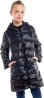 IKALI Boy Girl Packable Down Jackets, Spring Hood Coat, Lightweight/Water-Resistant