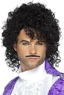 Adult Size 80s Purple Musician Kit - Wig and Mustache - Purple Rain - Prince