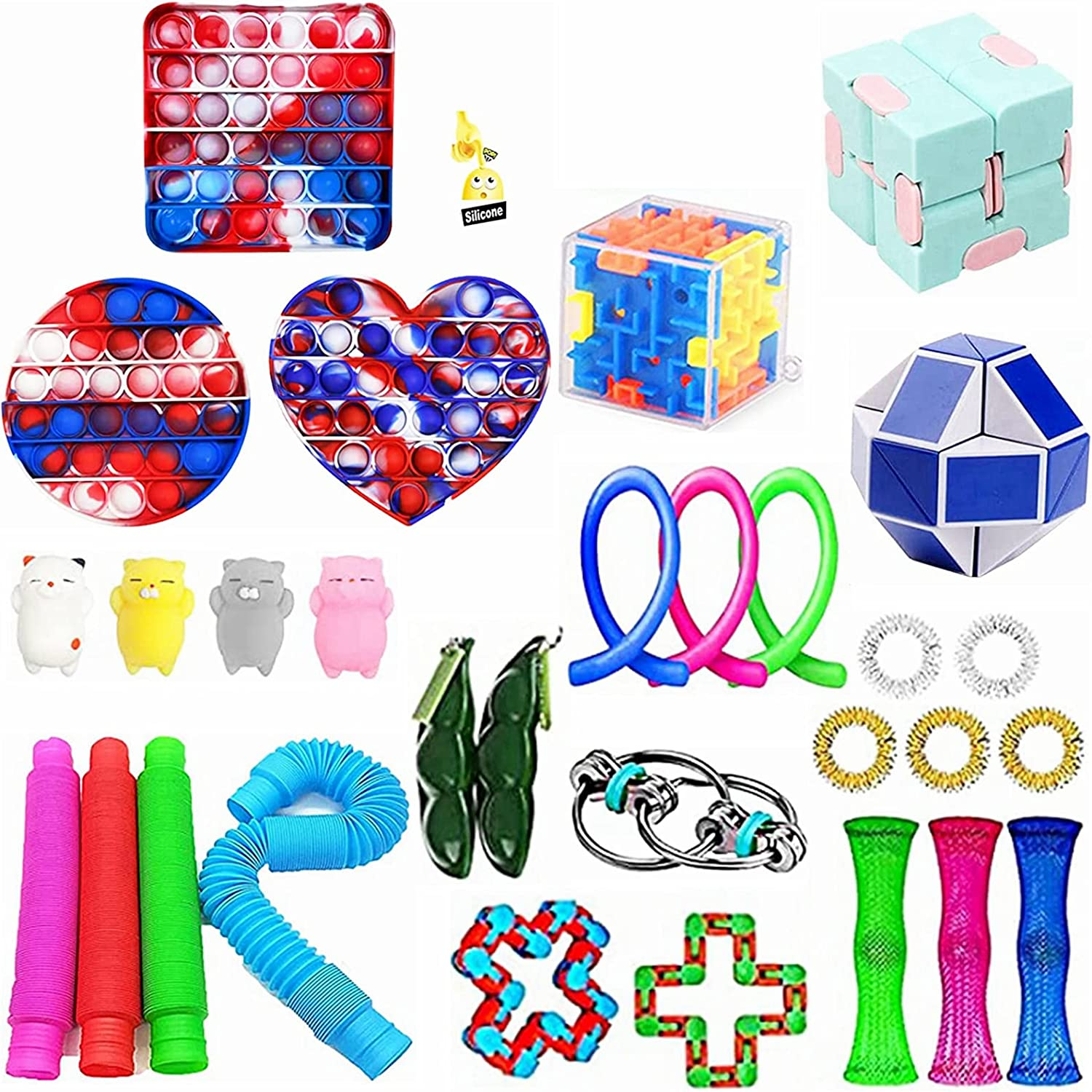 YINGFEINIAO Sensory Fidget Toy Set Anxiety and Courier shipping Ranking TOP3 free Relieves Stress