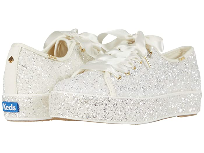 Keds x kate spade new york  Triple Kick All Over (Cream Glitter) Womens Shoes