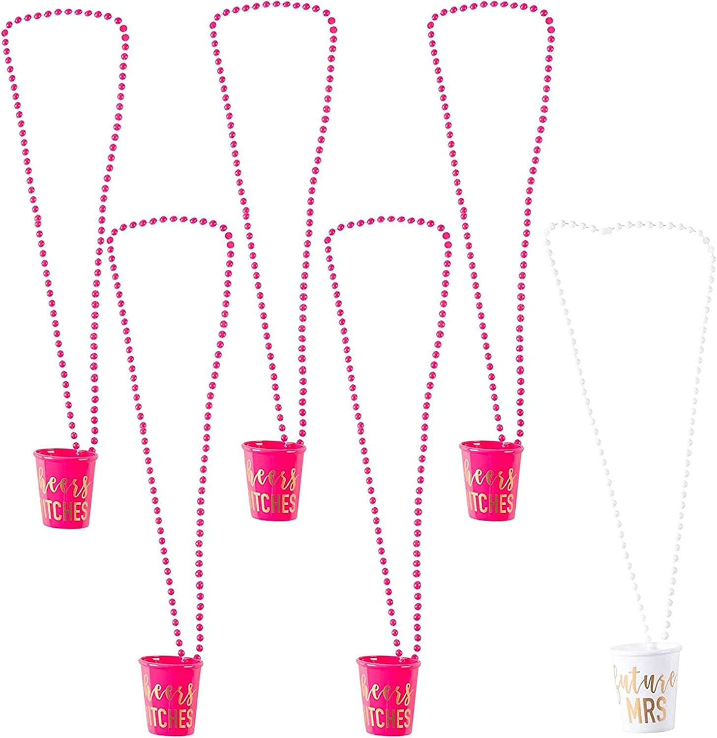 6-Pack Cheers Btches and Future service Neck Mrs Bachelorette Shot Glass Department store