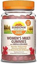 Sundown Women's Multivitamin with Biotin, 60 Gummies (Pack of 3)