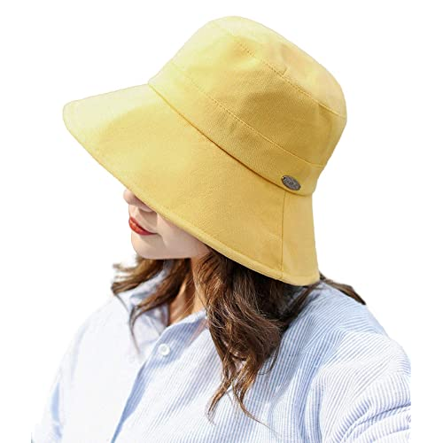 845242b5e3a E.Joy Online Womens UPF Linen Cotton Summer Sunhat Packable Bucket Hats w