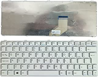 New English Laptop Replacement Keyboard for Sony Vaio SVE11 SVE1113M1EB SVE111A11L SVE111B11L SVE111B11M SVE11125CV SVE11126CG SVE1112M1EB SVE1112M1RB SVE111 SVE11113FXB SVE11115EG US Layout (White)