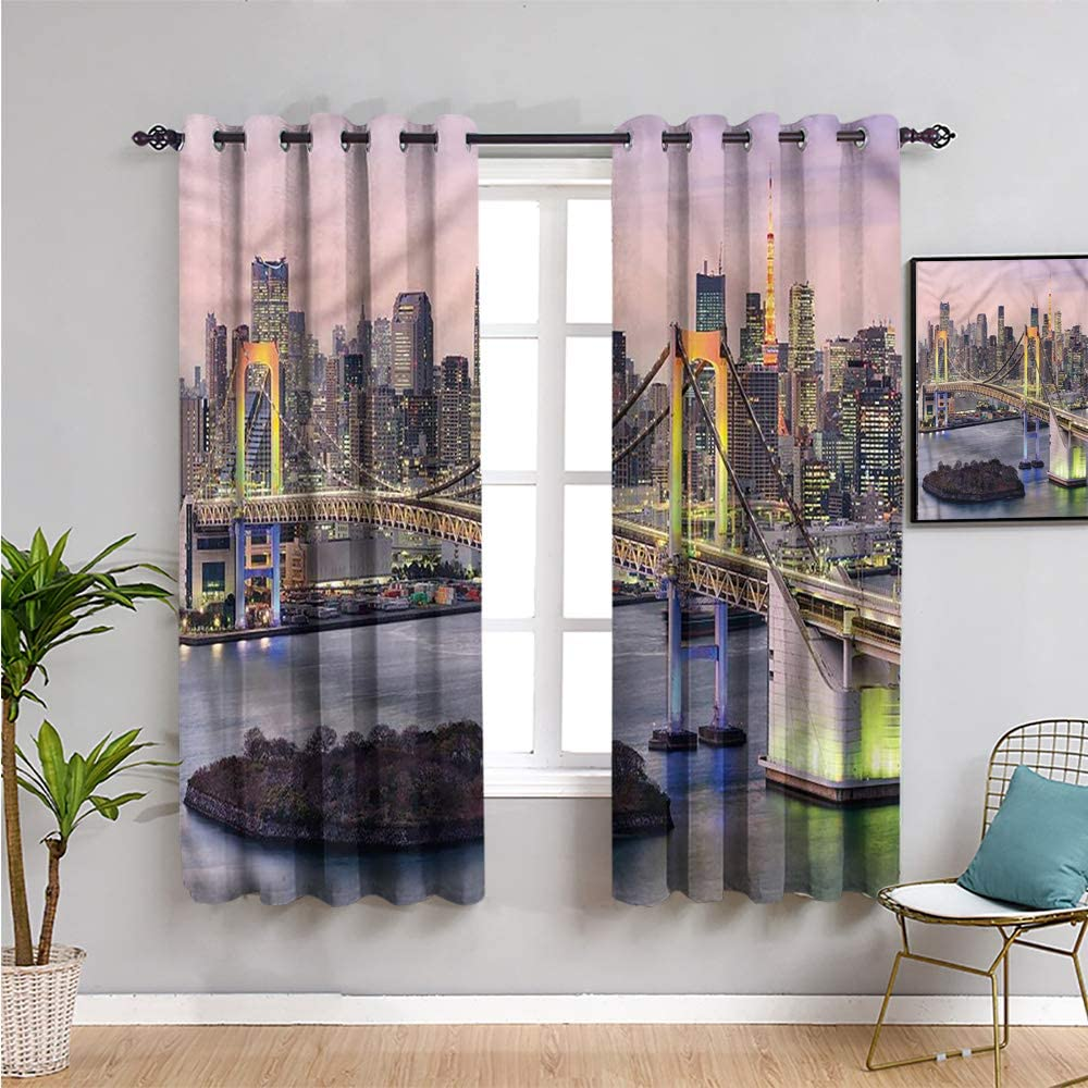 Beauty products Cityscape Decor Living Room Curtains Sets 2 39 Panel Max 89% OFF i