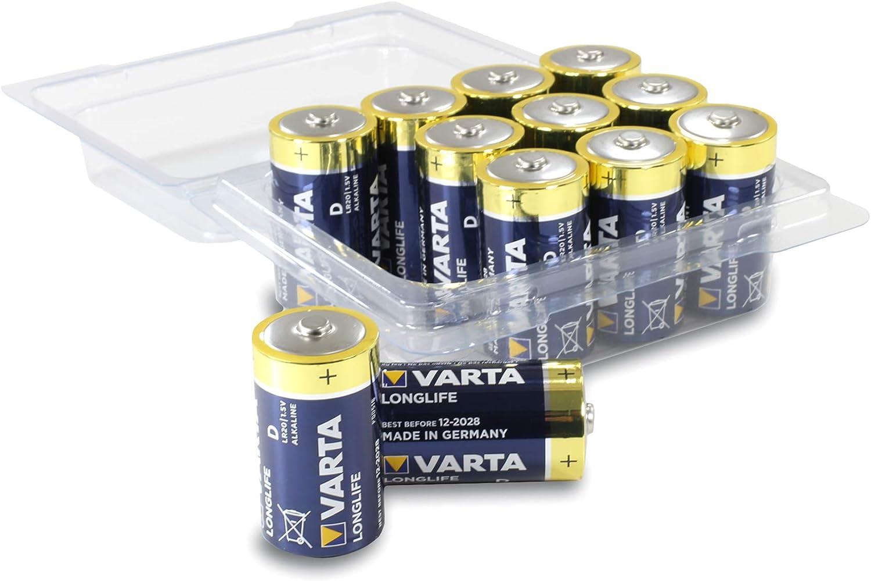 Varta Longlife Batterie D Mono Alkaline Batterien Lr20 Elektronik