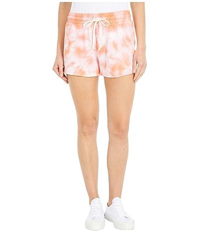 Alternative Cozy Lightweight French Terry Shorts (Coral Tie-Dye) Women
