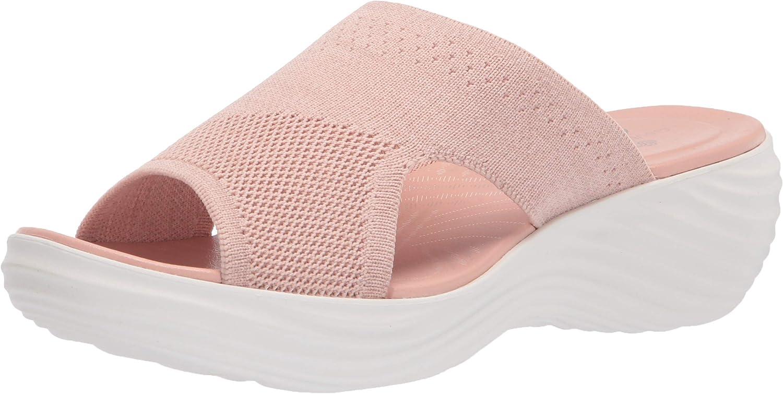 Clarks Women's Marin Coral Slide Sandal, Light Pink Knit, 6 Wide