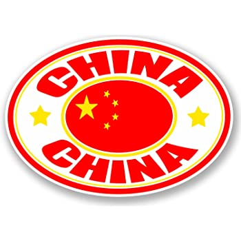 2 x China Flag Vinyl Sticker Laptop Travel Luggage Car #6785