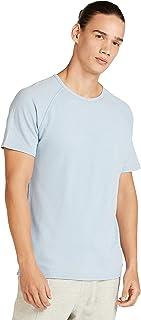 Iconic Men's 2300368 WASHED PIQUE Cotton T-Shirt, Blue